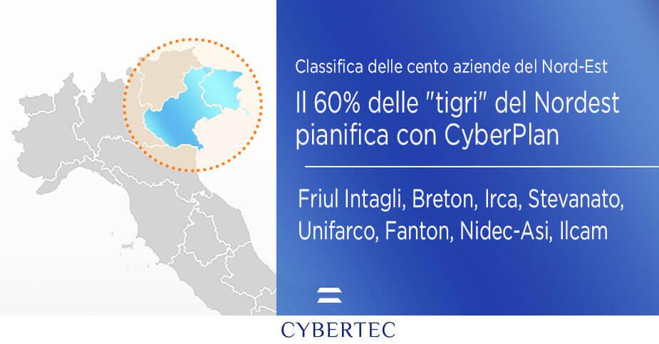 """Il 60% delle """"tigri"""" del Nordestpianifica la produzione con CyberPlan"""