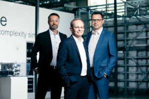 Il consiglio direttivo di KNAPP con Franz Mathi, Gerald Hofer e Christian Grabner